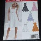 New Look Simplicity Pattern 6589 Summer dress high waist gored skirt  No. 122