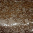 Floral brocade Vintage Fabric 3 yards Gold Roses 1950s 1960s 45 inches wide  No.  126