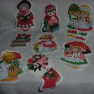 Christmas theme Fabric pellon cut outs banner Pieces theme cut outs No. 126