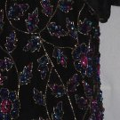 Papell Evening Boutique Top medium beaded sequined evening shell blouse top  No. 127