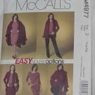 McCalls Misses 4977 Miss petite cape jacket top skirt pants size Z Lrg-xlrg Uncut No. 60
