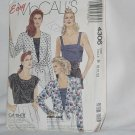 McCalls Easy 4306 Sizes B 8-10-12 Uncut pattern Bust 31 1/2-34 Jacket top camisole No. 129