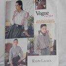 Vogue's Career Blouse 2136 Ralph Lauren blouse Uncut size (6-10) No. 129