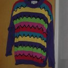 Purple sweater Ugly Sweater Sequin zig zag design Reference Size S No. 128