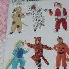 Butterick pattern 230 Children's Costume Cat Dog Tiger Dinosaur Pumpkin Santa Costume