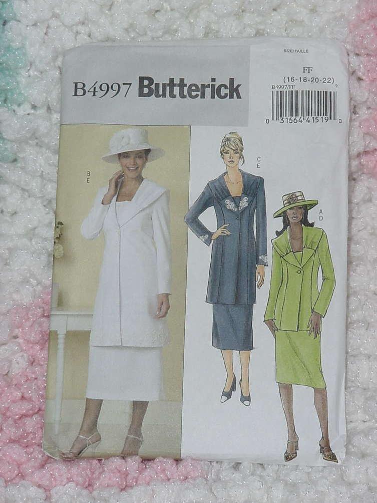 Butterick 4997 Misses Jacket skirt size FF 16-22   No. 133