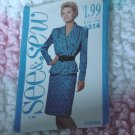 See & Sew pattern 6514 Misses Top Skirt Size B 16-24  No. 133