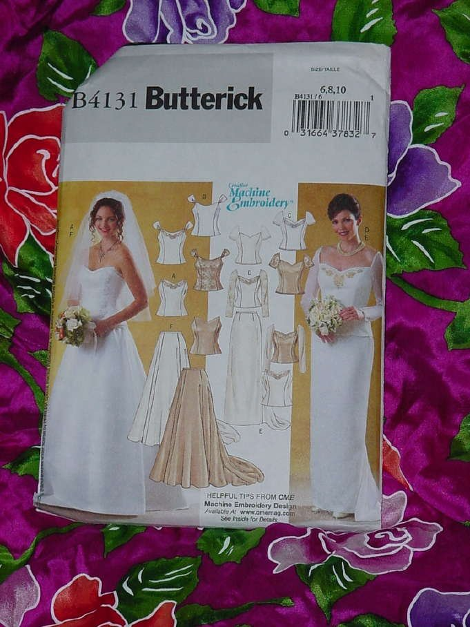 Misses lined top skirt floor length formal dress Butterick 4131 Uncut Size 6-10  No. 135