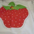 Strawberry fabric panel for stuffed pillows Two pillows No. 136
