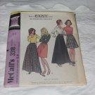 McCalls 3318 Waist 28 Hips 38 Skirts No. 138
