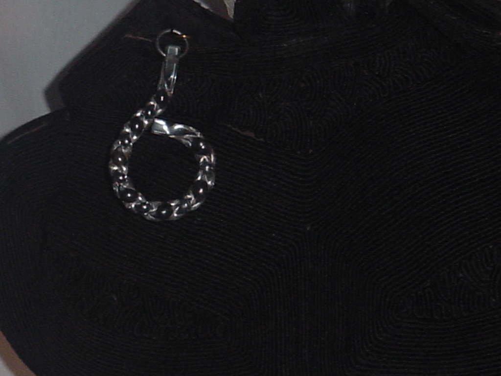 Vintage Black Corde Art Deco purse Lucite ring handles zip pull No. 138