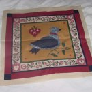 Country folk art fabric panel quilt panel pillow panel No. 138