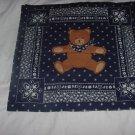 Bear in Kerchief fabric panel pillow panel quilt panel No. 138