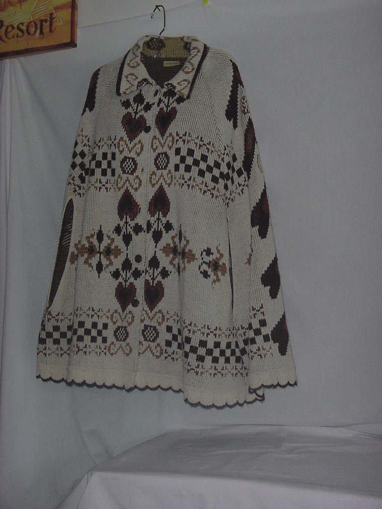 Earth tones 1960s vintage cape Poncho coat  Small to Medium   No. 137