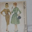 vintage McCall's Pattern 5552 misses womens size 14 dress with slim or full skirt Bust 34  No. 141