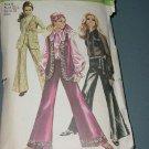 Misses vest blouse bell bottom wide leg pants Vintage Simplicity 8520 Size 8 Bust 31 1/2  No. 141