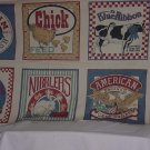 Fabric Squares 45  x 24  panels pillow quilt squares Animal theme  No. 141