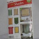 Simplicity Home Decorating Pattern Easy Shades  No. 142
