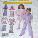 Simplicity Easy to Sew 4384 Child's Jumper Skirt pants jacket poncho Size A  3-8 Uncut No. 142