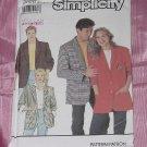 Mens Womens Teens Jacket 9803 Simplicity Size BB Medium-XLarge No. 142