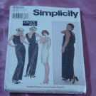 Misses' Simplicity 8605 Drape back knits only formal dress Size 10-14 Uncut No. 142