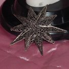 ART Vintage Pin Brooch Vintage Double Star filigree  No. 143