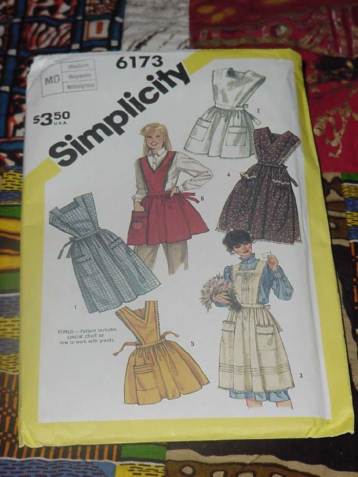 Simplicity 6173 Crafts aprons bib aprons No. 86