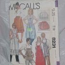 McCalls 8231 Crafts half aprons bib aprons No. 146