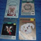 Iron on kits  Holiday Reindeer, Holly and Ivy Wreath Candy Canes   No. 160