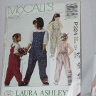 McCall's Children's Girls Jumpsuit Size 7, 8, 10 Laura Ashley Uncut No. 161
