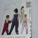 McCall's Children's Girls Jumpsuit Size 10, 12, 14 Laura Ashley Uncut No. 161