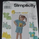 Simplicity 8674 Toddlers Tops Pants