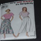 Simplicity It's So Easy 8267 Size A pt-XL Skirt, Split Skirt Top  No. 163