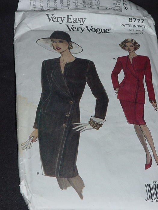 Vogue 8777 Very Easy Very Vogue Dress Top & Skirt Size 8-10-12  No. 164