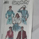 Simplicity 8178 Misses or Mens Loose fitting shirt Size XL  No. 165