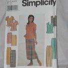 Simplicity 8124 Misses Blouse Skirt Pants Size Z 20, 22, 24  No. 165