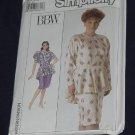 Simplicity 9062 BBW Size 22W Women's Dress Peplum No. 165