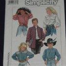 Simplicity 8365 Boys' or Girls' loose fitting shirt No. 165