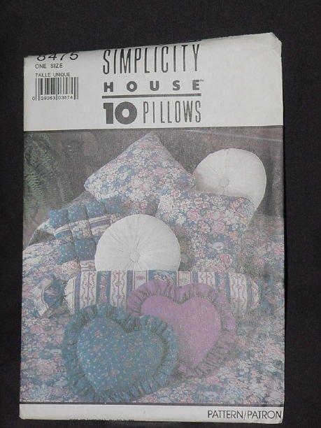 Simplicity 8475 10 Pillows No. 165