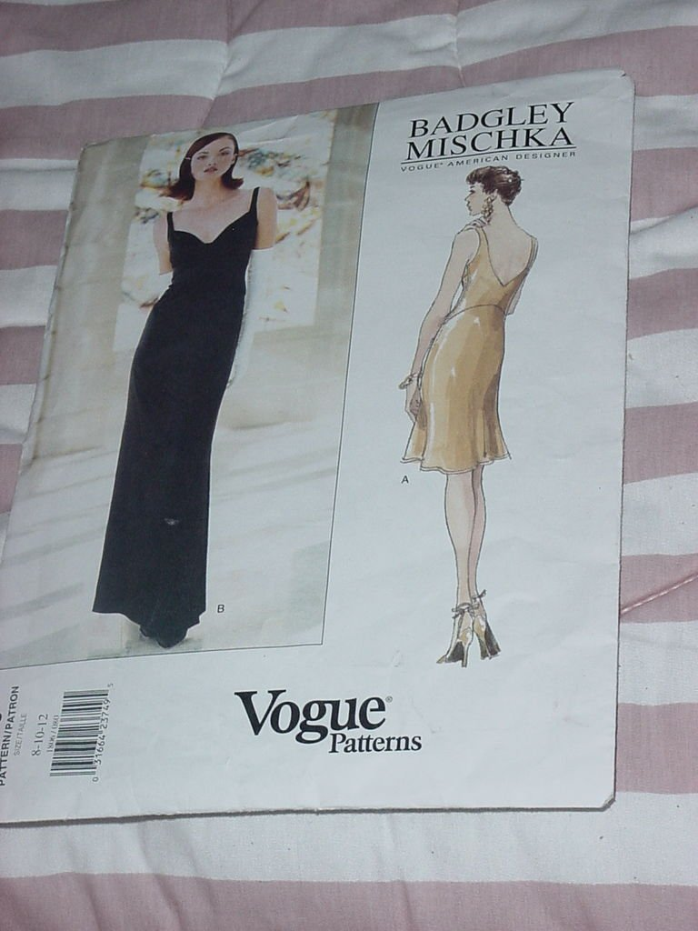 Vogue 1806 American Designer Badgley Mischka Dress A-line flared No. 32