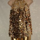 Gold and Silver Bangled Dance Costume Size MC Recital Jazz Tap Hip Hop Costume  No. 171