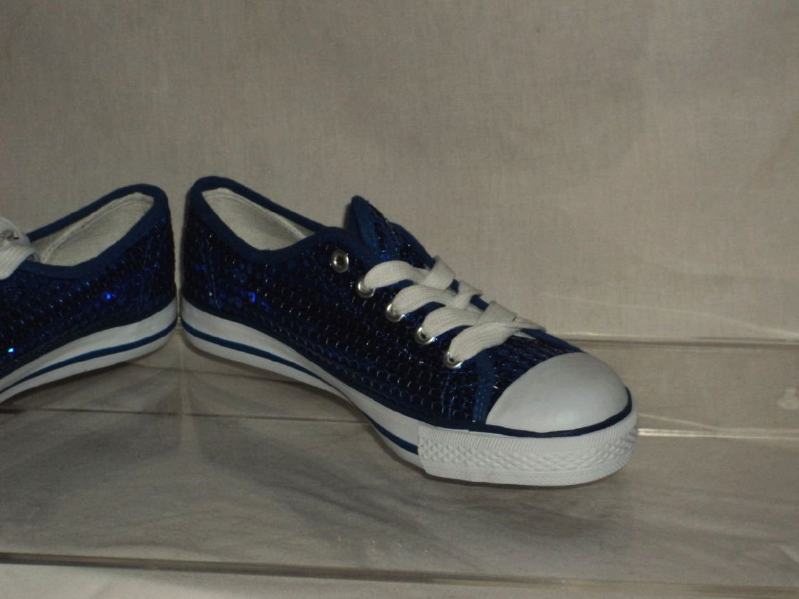 Balera Blue Sequin Tennis Dance Shoes Walking Flat Low top sneakers Size 4 No. 171