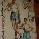Simplicity Pattern Vintage Mens boxer shorts  Father and son fashion 4149 Size 34  No. 174
