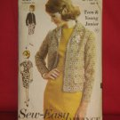 Original Uncut Advance Pattern 3129 size 9 Dress Jacket  No. 174