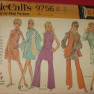McCall's Dress Pattern 9756 Bell bottom pants mini dress vest Uncut pattern No. 175