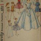 Original Simplicity Pattern 4510 Bridal Gown Trousseau Doll clothes pattern   No. 175