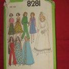 Doll Clothes Original Simplicity Pattern 8281 Bridal Gown Dress Culottes Cape Sun dress    No. 175