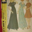 Uncut vintage pattern 4312  McCalls dress pattern Sleeveless wide collar dress No. 175