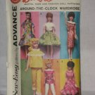 Doll Clothes Original Advance Pattern 2896 patterns Group D No. 174