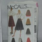 McCalls Sewing Pattern 8095 Miss size 12 Misses' Skirts gathered flared